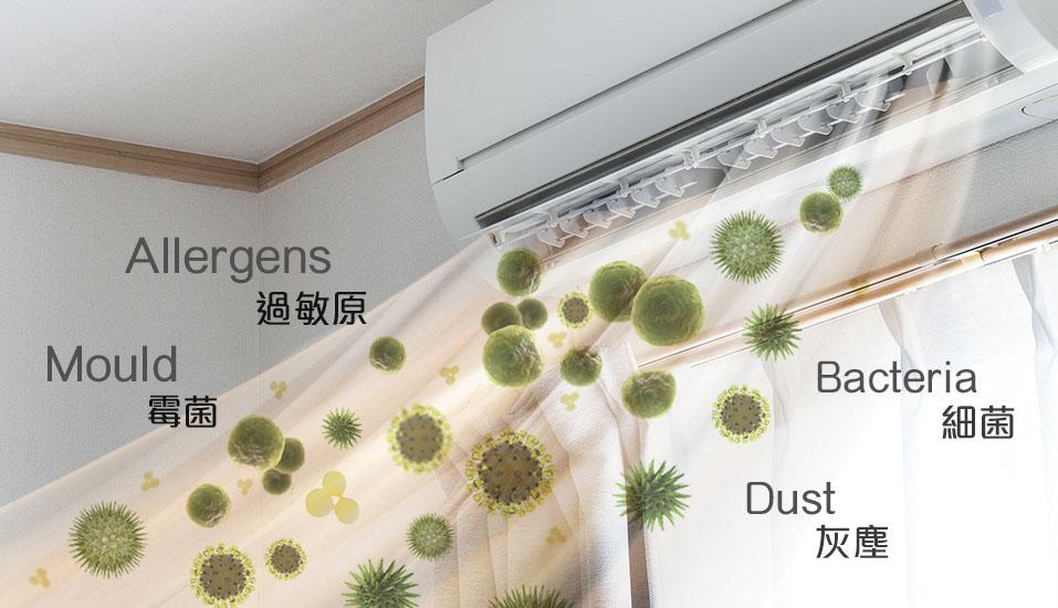 bakteri & virus dengan kelembaban udara