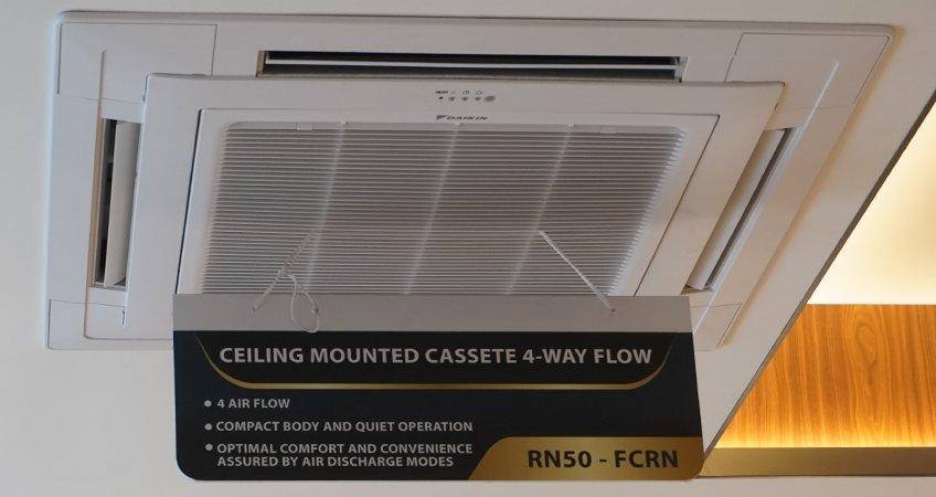 AC cassette daikin 4 way flow ceiling mounted